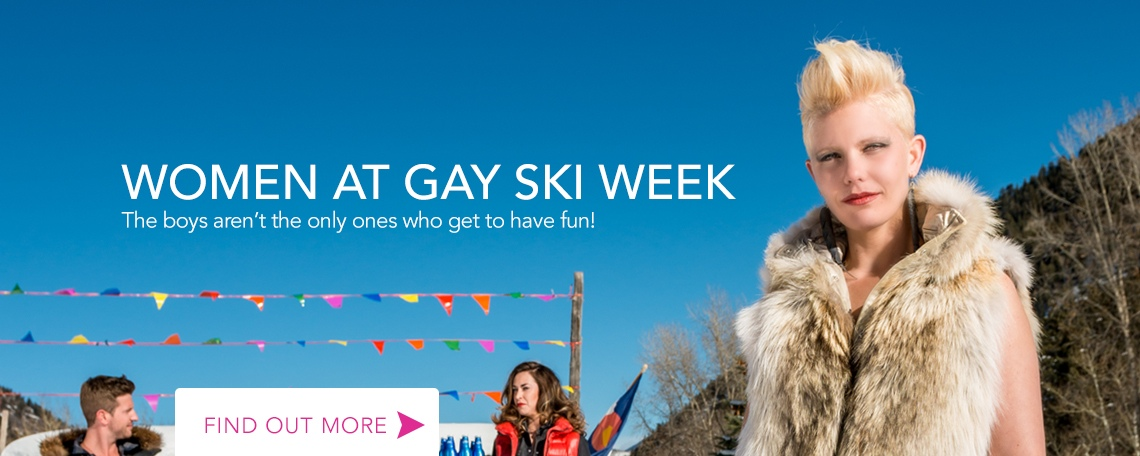 Women at Gay Ski Week Aspen
